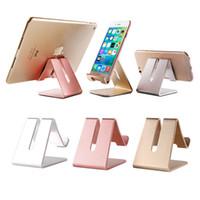box für tabletten großhandel-Tischtelefonhalter faul halterung Universal Aluminium Metall Desktop rutschfeste handyhalter wiederaufladbare standplatz für iphone tablet mit box