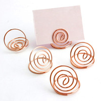 Wholesale circle stereo resale online - 24 Table Number Holders Ring Shape Card Holder Circle Stereo Note Pad Menu Clips