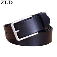Wholesale male list - ZLD men belt cow genuine leather luxury strap male belts for men new fashion classice vintage pin buckle 2018 New listing