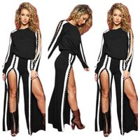 Wholesale High Waisted Black Short Pants - 2018 women fashion casual 2 Pieces Set Ladies Tracksuits Woman Fashion Clothes Casual Tops Hoodies And Long Pants Solid Color Suit
