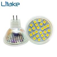 lâmpadas led mr16 24v venda por atacado-Litake 12-24V MR16 / GU10 Vidro Autêntico Lâmpada LED Branco / Branco Quente Iluminação LED
