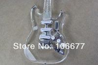 tipos de guitarras al por mayor-Envío gratis nueva llegada de calidad superior de acrílico de la guitarra F ST personalizado 4 tipos de LED guitarra de la fábrica de guitarra eléctrica