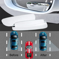 2X coche Espejo retrovisor redondo Punto ciego Gran Angular Convexo Seguridad Ajustable 06