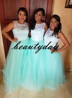 свадебные платья оптовых-Кружевные платья для подружек невесты Ice Blue 2019 Новый африканский стиль для нигерийских подружек невесты Формальное свадебное платье для гостей на вечеринке vestidos de fiesta