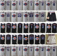 Wholesale M Ducks - Space Jam Jersey Movie Tune Squad Looney Daffy Duck Bill Murray Lola Bugs Bunny TAZ Tweety Michael LeBron James Basketball Curry Black White