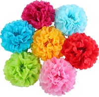Wholesale flower for sale - Artificial Paper Flowers Wedding Decoration Paper Flowers Tissue Paper Poms Baby Shower Birthday Party Decorations inch