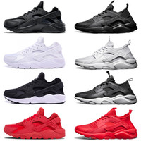 Wholesale air huaraches sneakers resale online - Air huarache IV Men Women Running shoes Ultra Triple Black White Red Oreo Huaraches Sport Sneaker Size