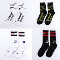 Wholesale crow socks - VETEMENTS Socks Tide Brand Men's Sports Stockings Fashion Striped Sockings For Men Compression Crew Socks Unisex Cheapest Socks