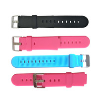 многоцветный силиконовые часы группы оптовых-Безопасность Силиконовый Замена Ремешок Для Часов Smartwatch Экологичный Браслет Ремешок Ремешок С Разноцветными Браслетами Подарки Для Малыша 2 2zx jj