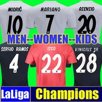 sergio ramos jersey al por mayor-Camiseta de fútbol Tailandia REAL MADRID Jerseys MEN WOMEN KIDS SIZE soccer jersey 18 19 Camisa Liga de campeones Jersey de madrid Real madrid 2019 camisetas de fútbol sergio ramos ASENSIO MODRIC