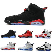 Wholesale cat bowl black - New arrival 6 6s Mens Basketball shoes men unc Black Cat Infrared sports blue Maroon Olympic Alternate Hare Oreo Angry bull Sports sneakers