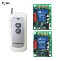 receptor transmissor sem fio de 433mhz rf venda por atacado-Receptor transmissor sem fio rf 433 mhz interruptor de controle remoto AC85-230V 30A relé remoto para a bomba de iluminação de uso interno