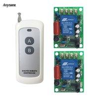 transmisores usados al por mayor-Transmisor inalámbrico receptor rf 433 mhz interruptor de control remoto interruptor AC85-230V 30A relé remoto para el uso interior de la bomba de iluminación