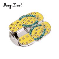 540904997852 Wholesale ball markers hat clips online - MagiDeal Sturdy Pretty Bling  Sandal Slippers Magnetic Hat Clip