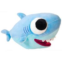 детские игрушки оптовых-Прекрасные акулы плюшевые игрушки Детские акулы официальные плюшевые мягкие животные детские игрушки для детей подарок на День Рождения 25 см