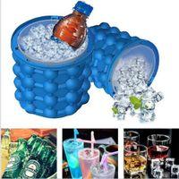 ingrosso refrigeranti a base di vino-Strumento Bar Party Iride Ice Genie Cube Maker Genie Il rivoluzionario Space Saving Ice Cube Maker Genie Utensili da cucina Ice Benne Bicchieri