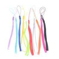 Wholesale Mobile Phone Cord Lanyard - Random Color 10Pcs Wrist Hand Chain Straps Cord DIY Hang Lanyard Mobile Phone Keychain USB Badge Cords Straps Bag Accessories