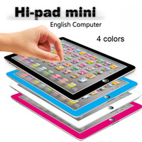 Wholesale Children Learning Computer - Learning Toy game Tablet pad chinese English Computer Laptop Y Pad Kids Game Music Education Christmas Electronic Notebook 0601736