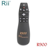 Wholesale Laser Pointers Mouse - [Free Shipping] Original Rii R900 2.4G Wireless Air Mouse Presenter with Laser Pointer for Office Android TV Box