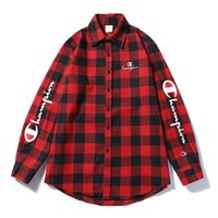 Wholesale mens clothing for sale - mens HIP HOP clothes champions shirt classic style sweatshirt long sleeve clothes for man high quality shirts red blue and white shirts