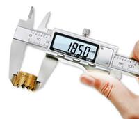 vernier mikrometre kaliper toptan satış-Yeni Yüksek Kalite Paslanmaz Çelik Dijital Sürmeli Kumpas 6-Inch 150mm Geniş Ekran Elektronik Mikrometre Doğru Ölçme Araçları