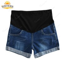 Wholesale pants for pregnant women - XXXXL Large Size Summer Denim Maternity Shorts For Pregnant Women Clothing Pregnancy Clothes Short Jeans Pants Shorts for Women