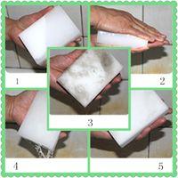 Wholesale magic cleaning gel - 10*6*2 cm white magic cleaning melamine sponge Eraser High quality magic sponge esponja magica super cleaning gel