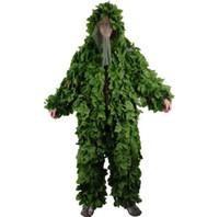 ingrosso caccia 3d camouflage-Forest Design Camouflage Ghillie Suit Erba Foglie tipo caccia abbigliamento yowie Sniper 3D tuta mimetica bionica BR440
