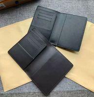 Wholesale travel cards online - Women leather passport cover brand credt card holder men business travel passport holder wallet covers for passports carteira masculina