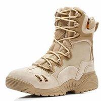 ingrosso forze speciali combattono stivali-Uomini di marca con cerniera Esercito militare Stivali forze speciali tattiche Desert Combat Boats Outdoor Escursioni in pelle Scarpe da trekking Snow Boots