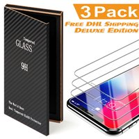 Wholesale For iPhone X Tempered Glass Screen Protector For iPhone iPhone X edition Film D H Anti shatter Wooden Package