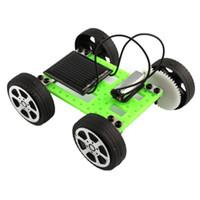 diy güneş araç kiti toptan satış-1 Takım Mini Güneş Enerjili Oyuncak DIY Araç Kiti Çocuk Eğitim Gadget Hobi Komik L209