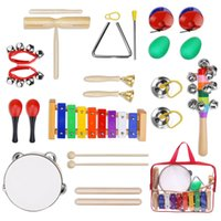 Wholesale INNOCHEER Musical Instruments Xylophone Set for Kids ASTM Certified FDA Approved Toddler Wooden Percussion Toy