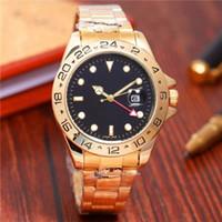 Wholesale look bracelet - Four needle diving 40mm new luxury brand women look at female bracelets and men's quartz watches.