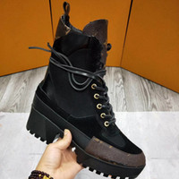 Wholesale leather ladies boots - 2018 new fashion luxury brand high quality leather and heavy-duty soles comfortable breathable leisure lady Ma Dingxue