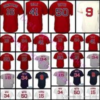 Wholesale Boston Sales - Boston 41 Chris Sale 34 David Ortiz 50 Mookie Betts 16 Andrew Benintendi 15 Dustin Pedroia 9 Williams Jersey Red White Grey Blue