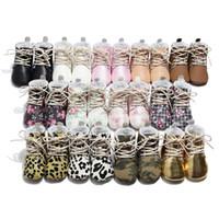 ingrosso ragazze camuffano scarpe-Stivali in cotone per bambini Inverno Moda Ragazzi Ragazze Leopard Camouflage Primi camminatori Infantili Scarpe antiscivolo Toddler Bambini Plus cotone scarpe C5246