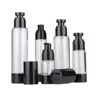 Wholesale black cream containers for sale - 15ml ml ml Empty Black Airless Lotion Cream Pump Plastic Container Vaccum Spray Cosmetic Bottle Dispenser For Travel Doubtless Bay