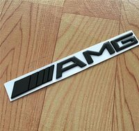Wholesale black s line badges resale online - Car Styling Silver Chrome Black M AMG Decal Sticker Logo Emblem Car Badges for Mercedes CL GL SL ML A B C E S class Car st