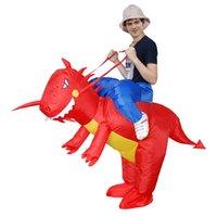 disfraces de animales inflables al por mayor-Ropa inflable Dinosaurio disfraces juguetes disfraces para el entretenimiento Animal tela ventilador operado divertido Sumo Halloween juguete 75zr W