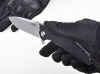 aletas de bolsillo cuchillos al por mayor-Cuchillo plegable clásico ZERO TOLERANCE 0562 Cuchillo plegable doble del cojín de bolitas Cuchillo de bolsillo G10 Mango ELMAX Cuchillo que acampa al aire libre