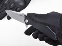 cep katlama yardımcı bıçak toptan satış-Klasik Katlanır Bıçak SIFIR TOLERASYON 0562 Çift Rulman Flipper Cep Bıçak G10 Kolu ELMAX Blade Programı Açık Kamp Bıçak