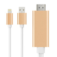 iphone tv hdmi toptan satış-IPhone için HDMI Adaptörü için HDMI Kablosu 1080 P Dijital AV Dönüştürücü iPhone Cihazlar için TV Projektör Tak ve Çalıştır