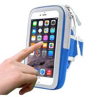 huawei inç ekranlı telefon toptan satış-Huawei Meizu için spor Kol bandı Bant Kapak Evrensel 5-5,8 İnç Cep Telefonu Dokunmatik Ekran Kol Bandı