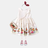 Wholesale Baby Positioning - summer European and American girl cotton baby children dress positioning skirt vest skirt wt804