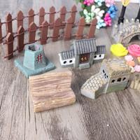 ingrosso bambola di bonsai-49 pezzi decorazione set Coniglio Fiore Resina Artigianato Carino Miniatura Simulazione Giardino Bonsai Divertimento Decor Mini Bambola realistica Figurine 21hp ZY
