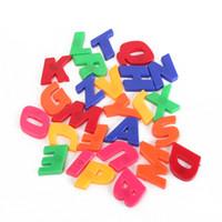 alfabe öğrenme oyuncakları toptan satış-78 adet / takım Renkli Plastik Manyetik Alfabe Harfler Sayılar Buzdolabı Mıknatısı Bebek Çocuk Eğitim Öğretim Öğrenme Oyuncaklar Hediye