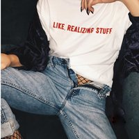 Wholesale long shirts for women simple - 2018 Spring And Summer New letter print t shirts for men for women simple design casual couple's shorts sleeve custom group's tees