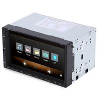 rueda de coche digital al por mayor-2 Din Reproductores multimedia para coche 7 pulgadas LCD Pantalla táctil digital Bluetooth Car Radio Soporte del volante Control