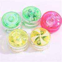 Wholesale friction light online - Plastic LED YoYo Multi Color Light Up Finger Spinning YoYo Children Toy Gift zp C R